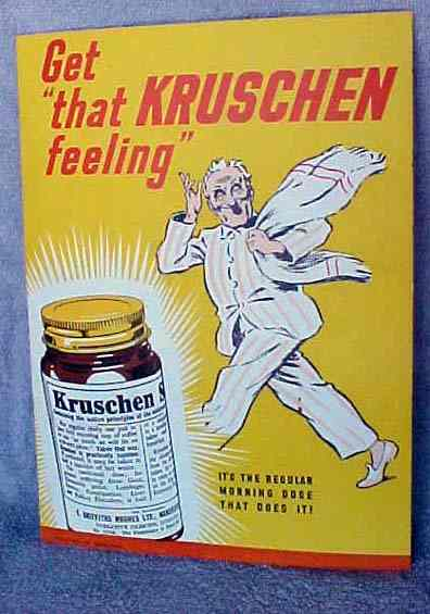 Kruschen quack medical cure sign