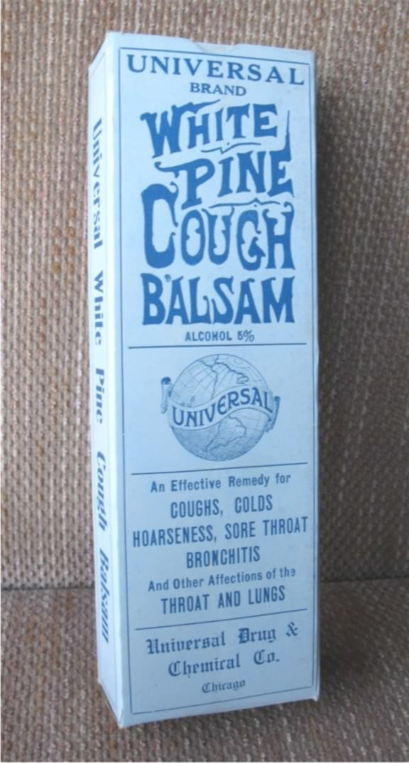 Universal White Pine cough balsam box