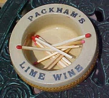 packhams lime wine matchstriker