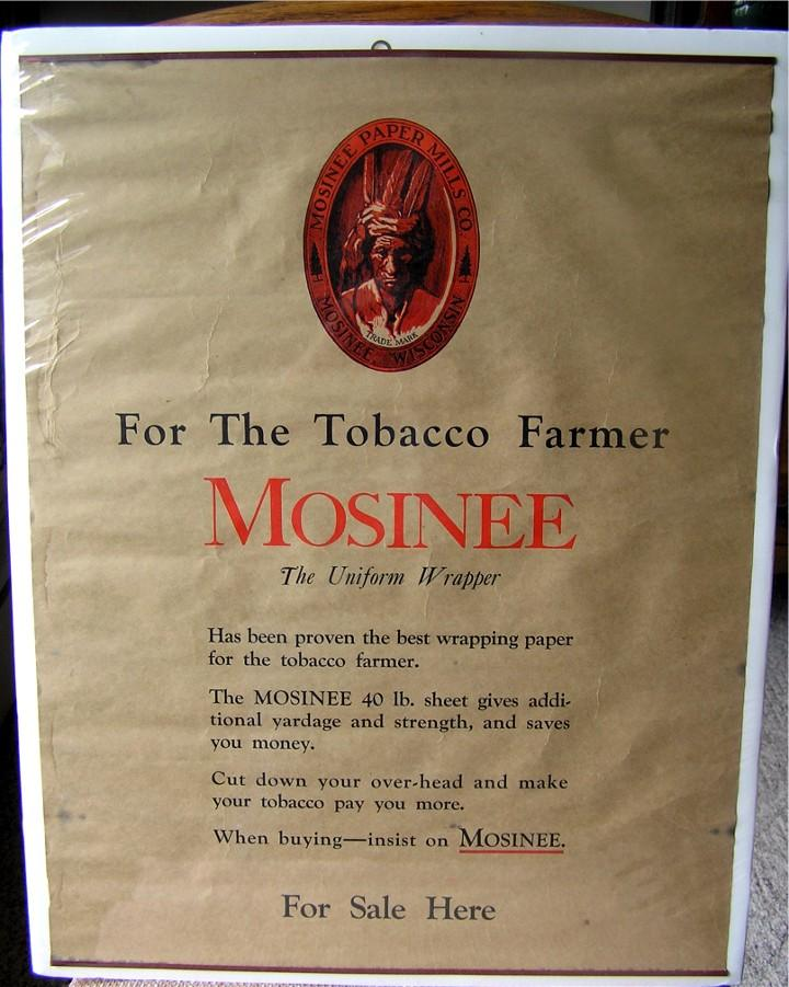Mosinee Tobacco Paper poster