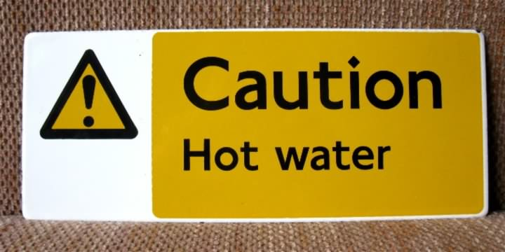 porcelain caution enamel sign
