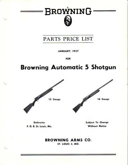 Brown Part m 24796 Browning Parts Price