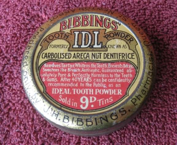 Bibbings tooth powder tin