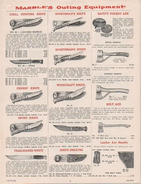 marble arms catalog 1957