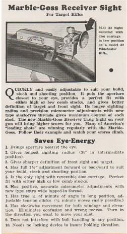 marble arms flyer goss receiver sight