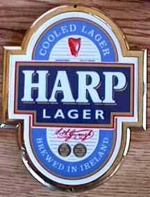 Harp lager tap sign