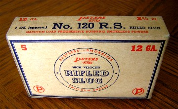 peters 12gauge rifled slugs