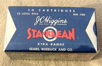 JC Higgins StaKlean 22 ammunition box