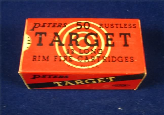 peters target 22 ammo long  sc 1 st  Sporting Collectibles & Antique and Collectable 22 caliber ammunition boxes for sale