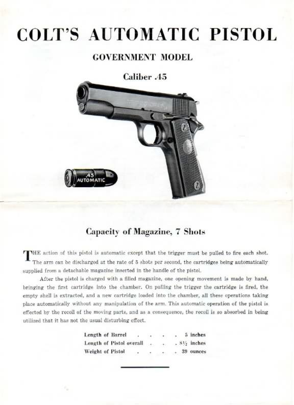 colt government model 45 instructions