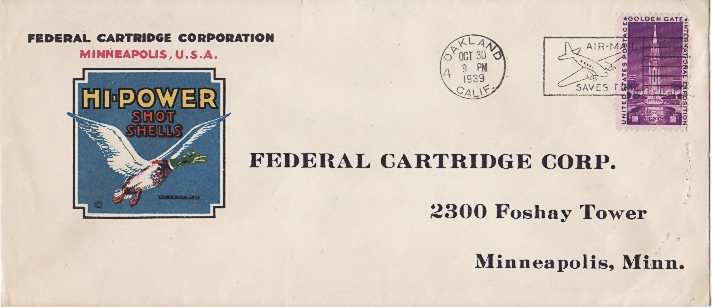 Federal Cartridge Co envelope
