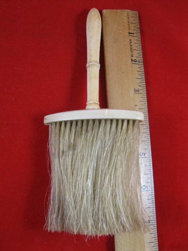 ivory handle wig brush