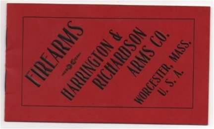 HARRINGTON & RICHARDSON ARMS CO.,