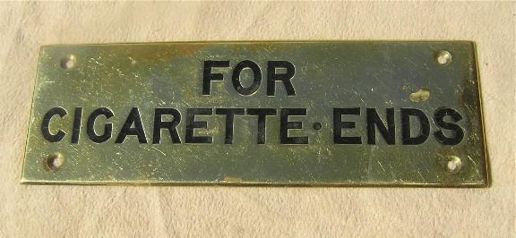 Brass sign