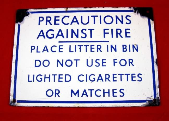porcelain precautions enamel sign