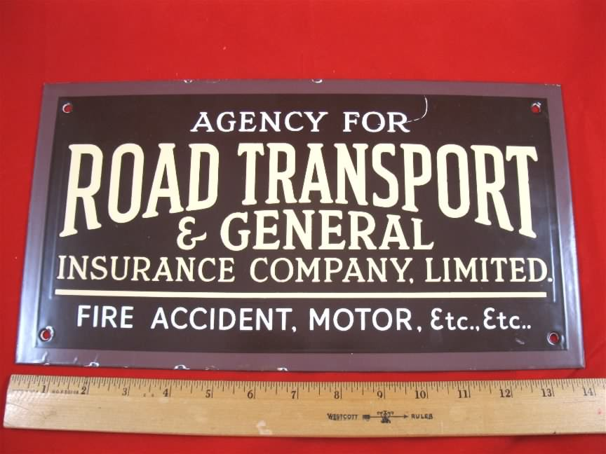insurance porcelain sign