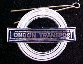 London Transport employee badge