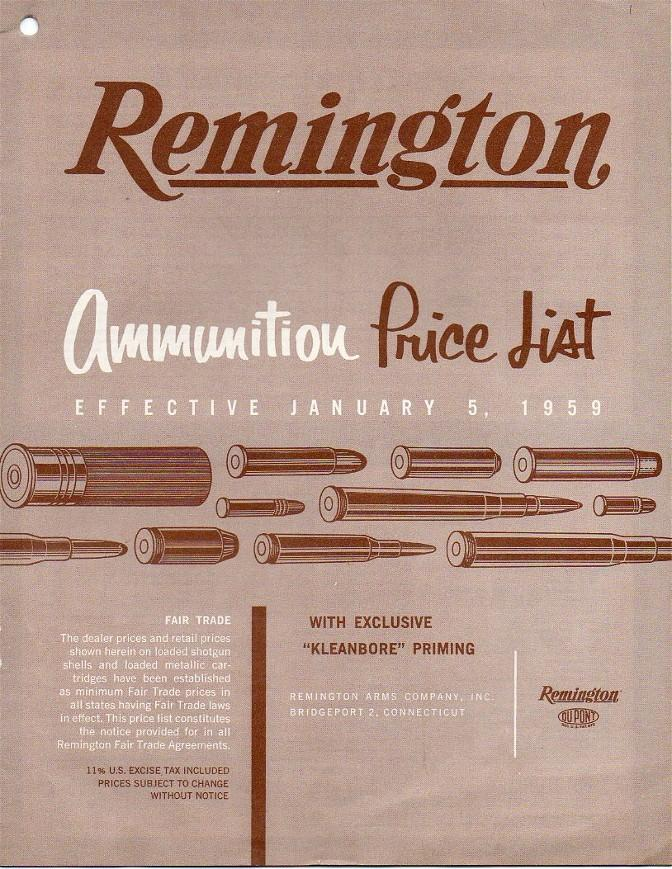 Remington ammunition 1959