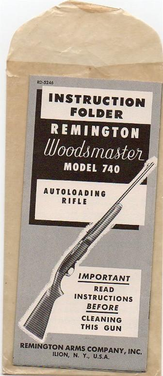 Remington model 740 instructions