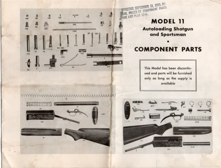 remington price list model 11
