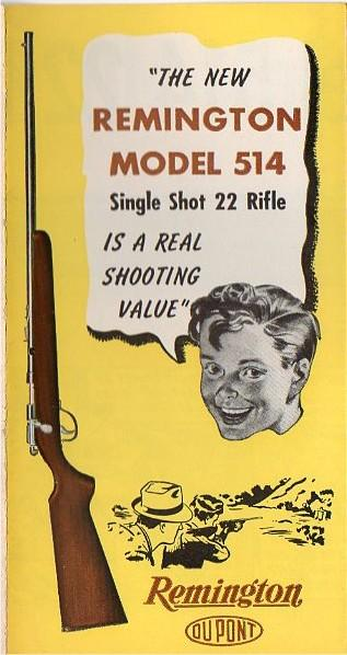 Remington model 514 brochure